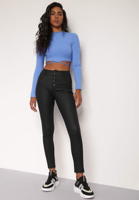 Czarne Spodnie Skinny Phenialla