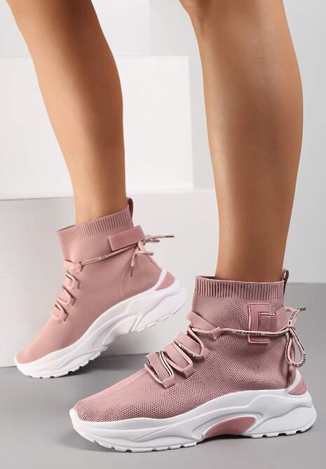 Różowe Sneakersy Diomerine