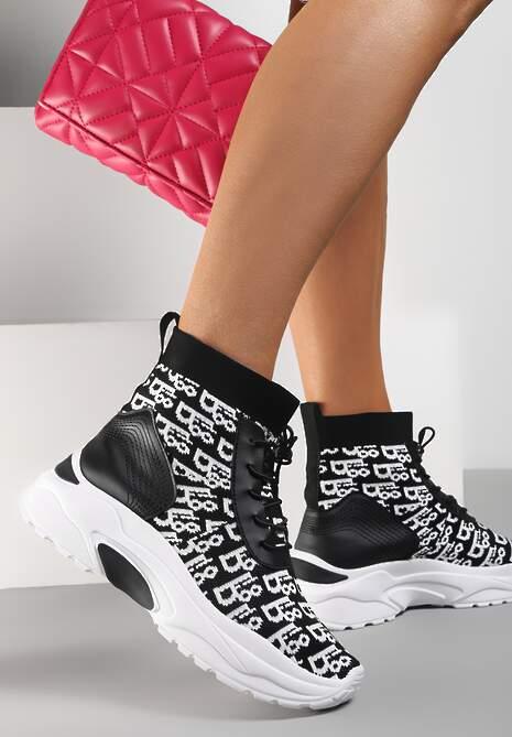 Czarne Sneakersy Rhenaia