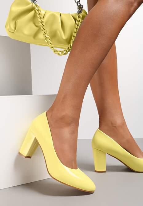 Żółte Czółenka Agathene