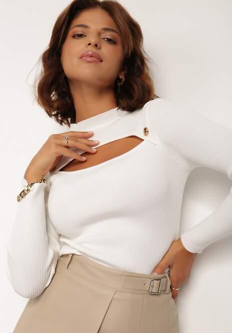 Biały Sweter Antima