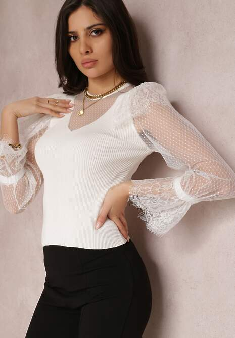 Biały Sweter Barbolea