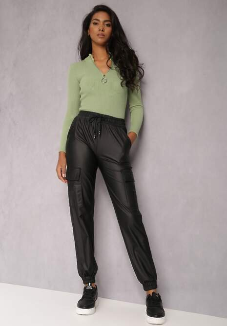 Czarne Spodnie Joggery Dynyle