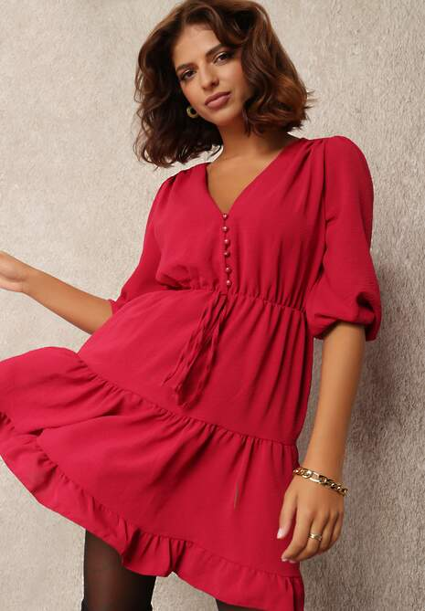Bordowa Sukienka Alemitrite
