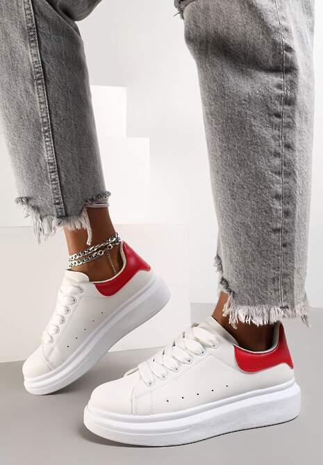 Biało-Czerwone Sneakersy Aelistae
