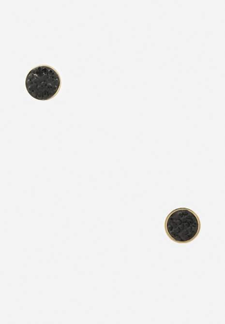 Złoto-Czarne Kolczyki Demaris
