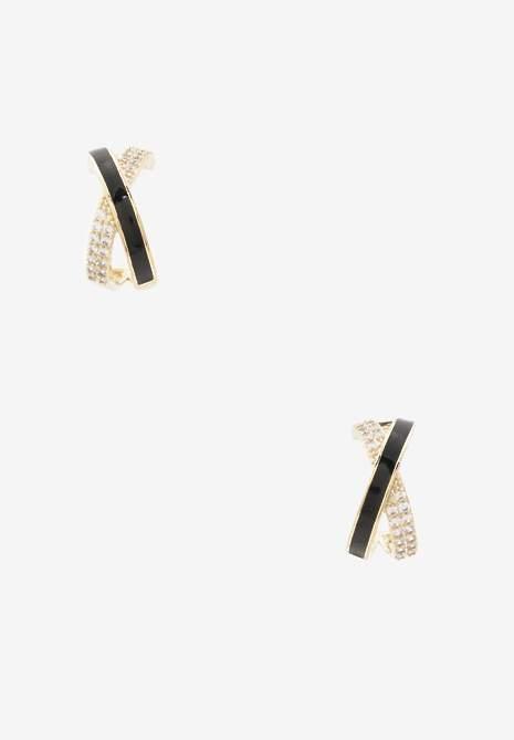 Złoto-Czarne Kolczyki Semonice