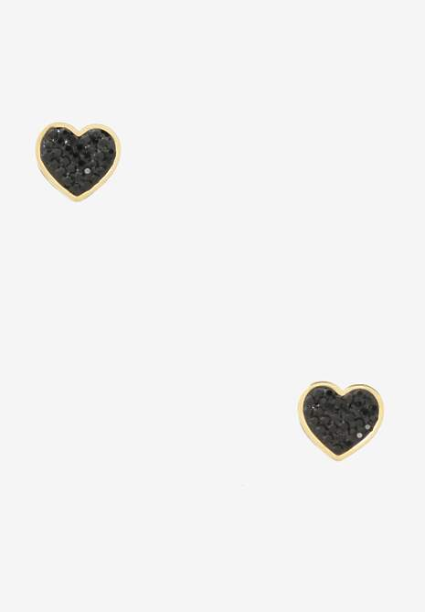 Złoto-Czarne Kolczyki Rhenamia