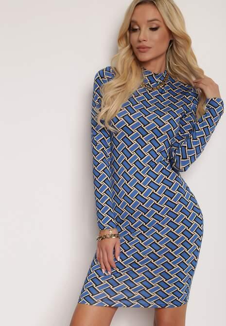 Niebieska Sukienka Hyrmobe