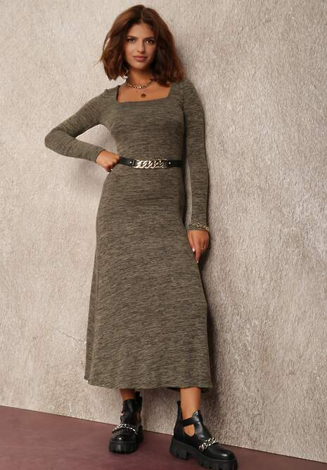 Ciemnozielona Sukienka Irile