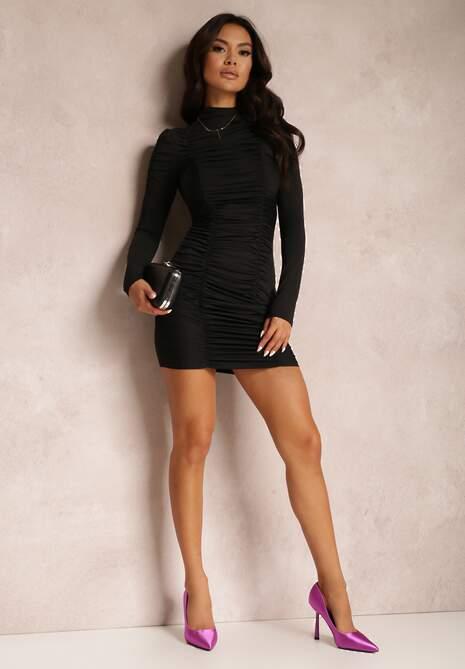 Czarna Sukienka Delerine