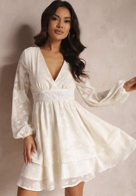 Kremowa Sukienka Maerista