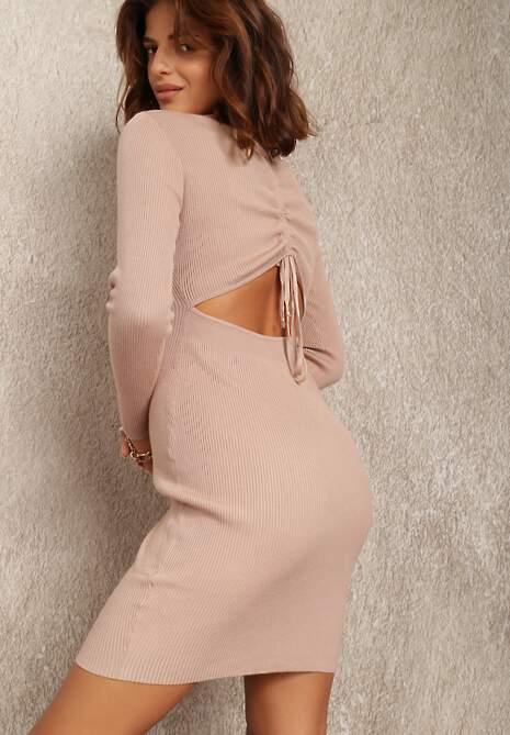 Beżowa Sukienka Agiche