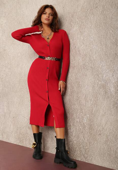 Czerwona Sukienka Hellyne