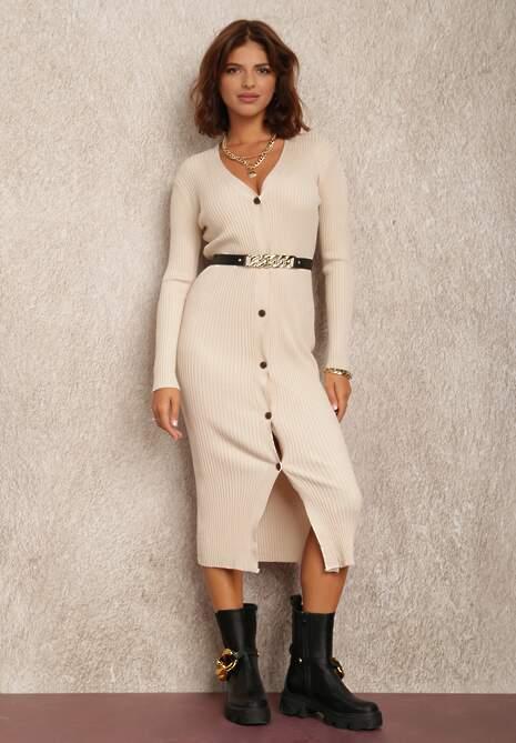 Jasnobeżowa Sukienka Hellyne