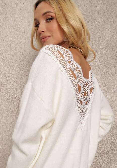Biały Sweter Harmena