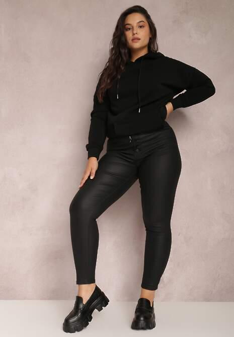 Czarne Spodnie Slim Evione