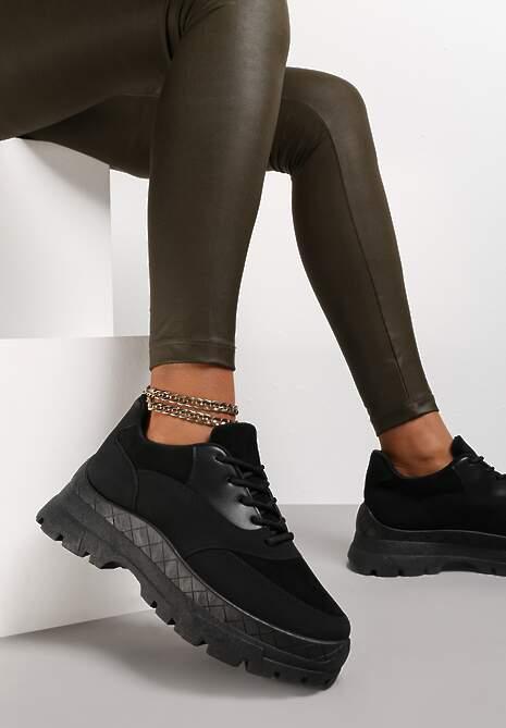 Czarne Sneakersy Hyresilea