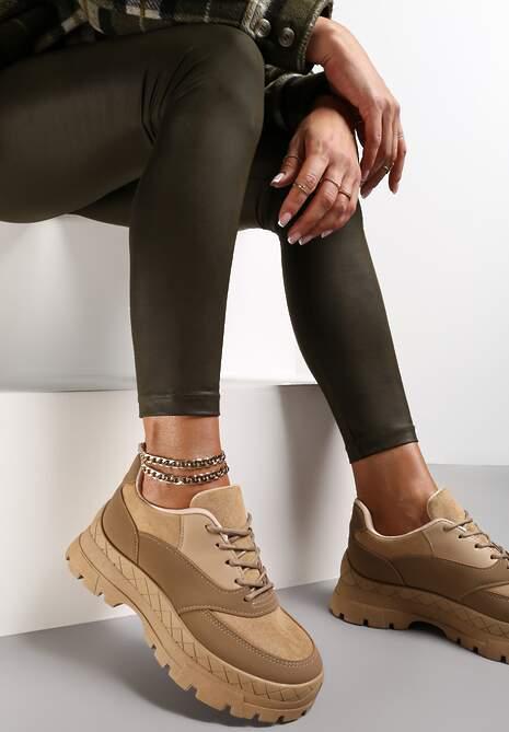 Beżowe Sneakersy Hyresilea