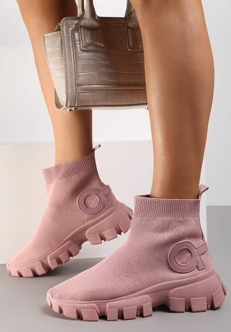 Różowe Sneakersy Langaria