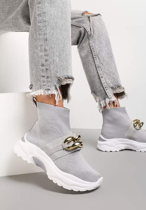 Szare Sneakersy Calothe