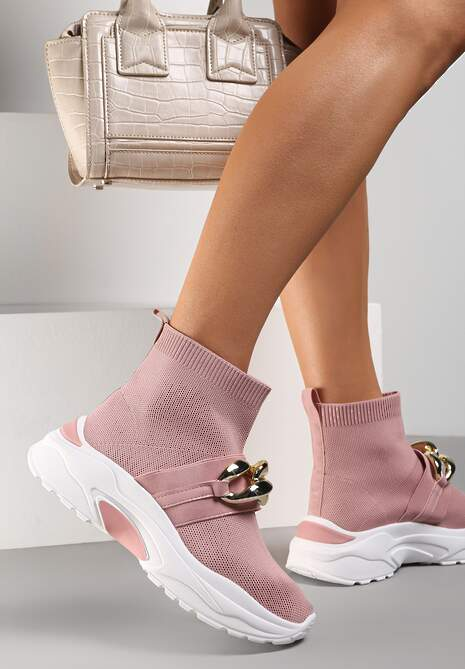 Różowe Sneakersy Calothe