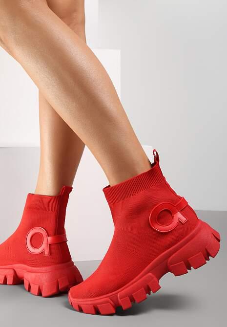 Czerwone Sneakersy Assuh