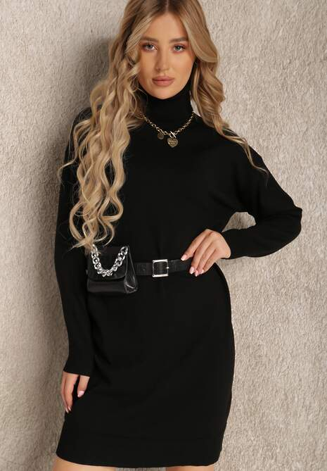 Czarna Sukienka Baseris