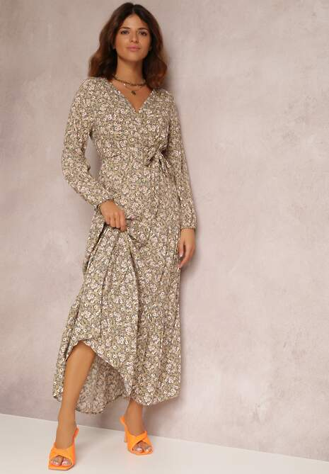 Beżowa Sukienka Thesena
