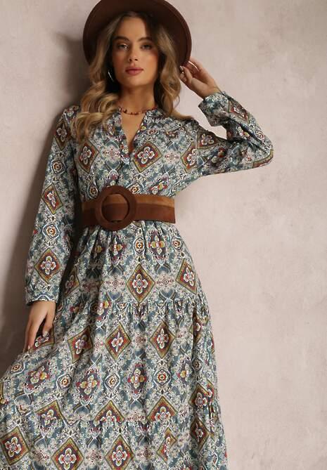 Niebieska Sukienka Camassia