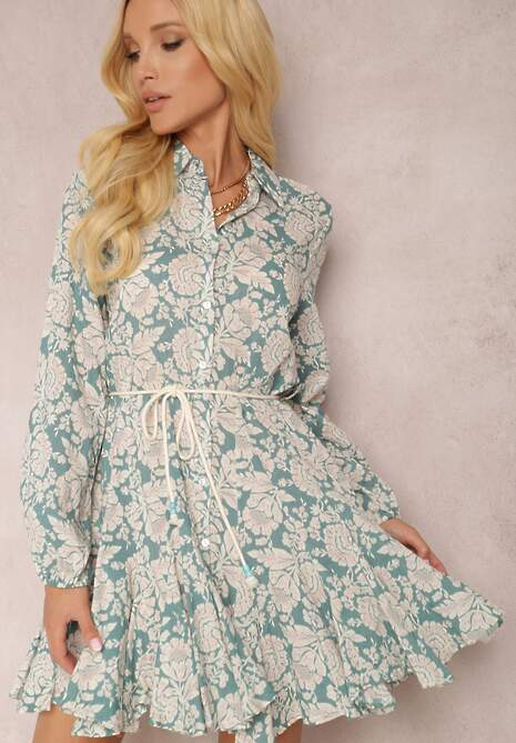 Niebieska Sukienka Amathaste