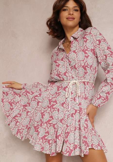 Różowa Sukienka Amathaste
