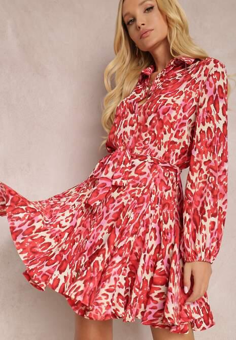Czerwona Sukienka Delis