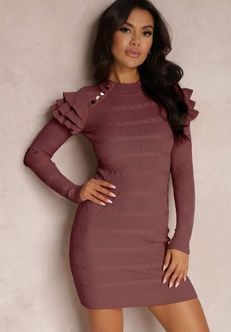 Ciemnofioletowa Sukienka Hellenia