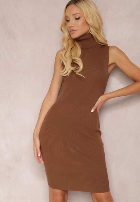 Brązowa Sukienka Cillonia