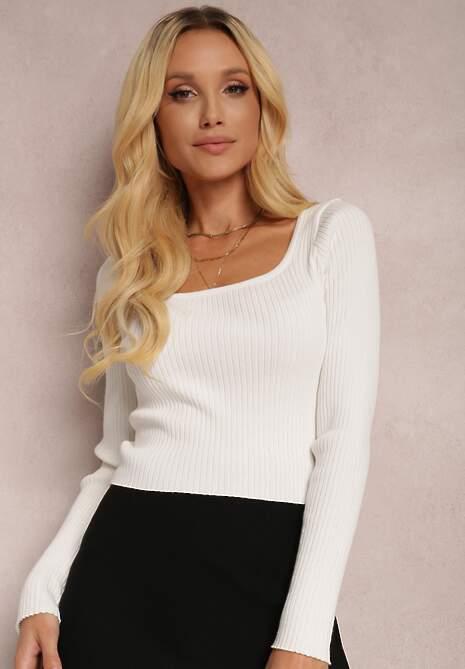 Biały Sweter Eunolea