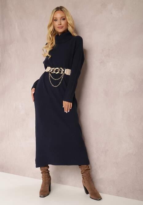 Granatowa Sukienka Timamia