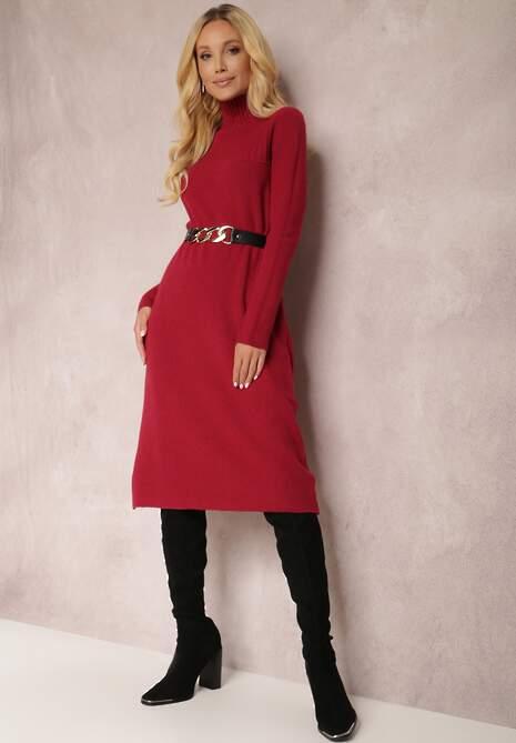 Bordowa Sukienka Euphadina
