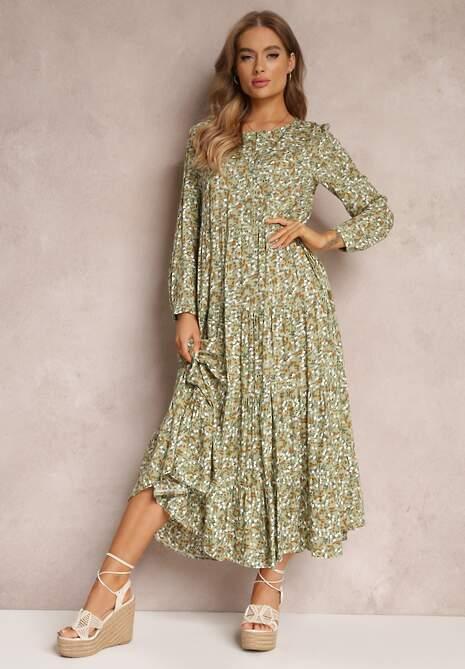 Zielona Sukienka Feanyore