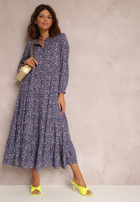 Niebieska Sukienka Caellial