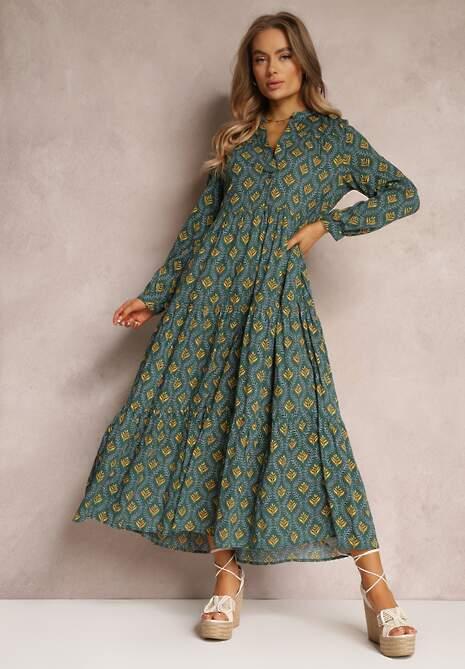 Zielona Sukienka Caellial