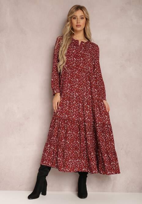 Bordowa Sukienka Caellial