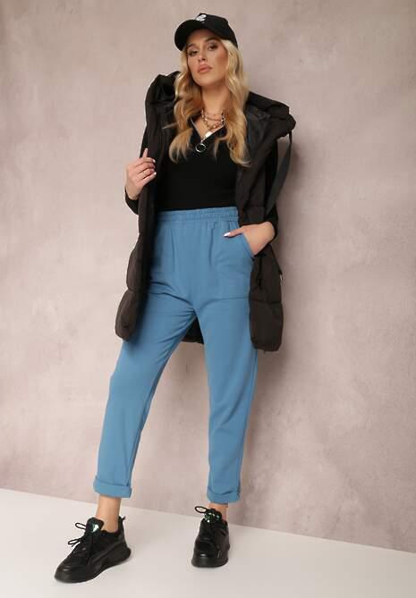 Ciemnoniebieskie Spodnie Aerethe