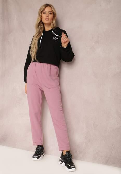 Fioletowe Spodnie Aerethe