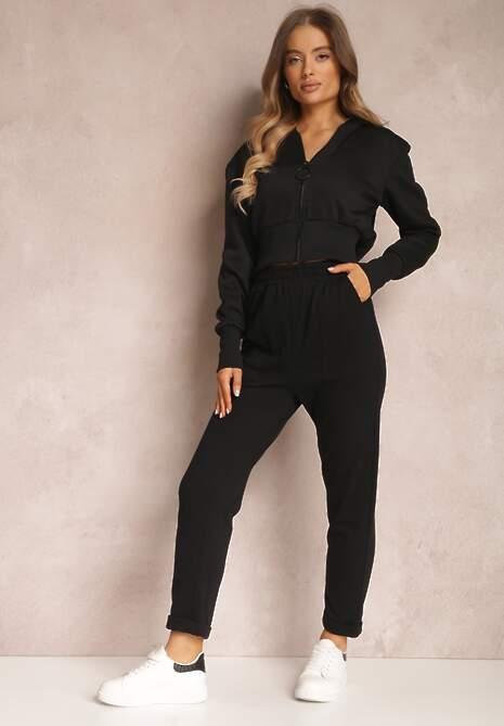 Czarne Spodnie Aerethe