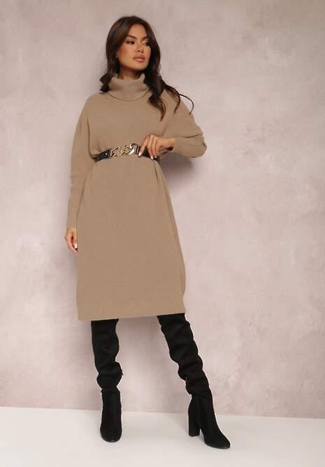 Beżowa Sukienka Tyvara