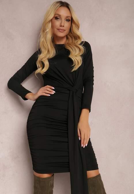 Czarna Sukienka Zeriphis