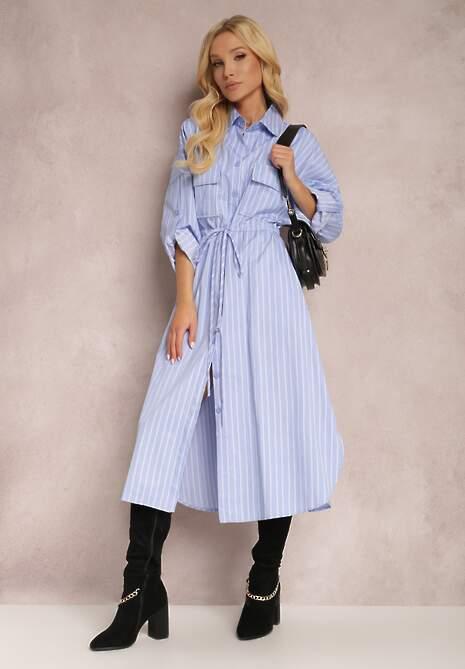 Niebieska Sukienka Myneanor