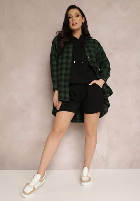 Czarno-Zielona Koszula Desaphe