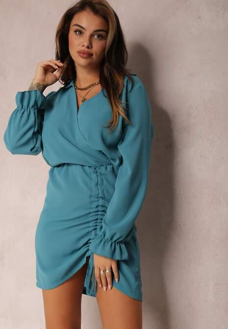 Niebieska Sukienka Saveano